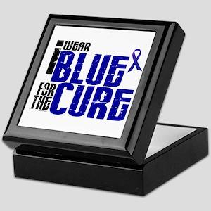 I Wear Blue For The Cure 6 Keepsake Box
