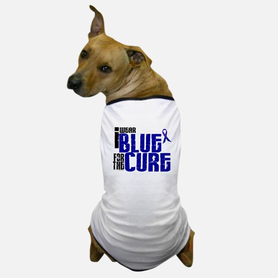 I Wear Blue For The Cure 6 Dog T-Shirt