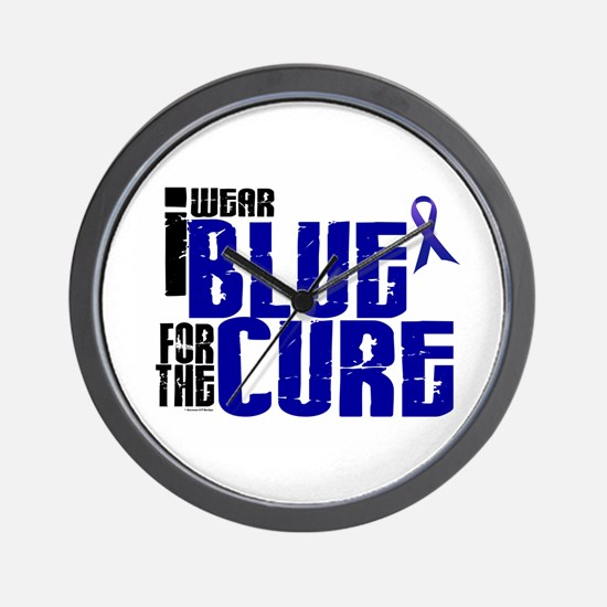 I Wear Blue For The Cure 6 Wall Clock