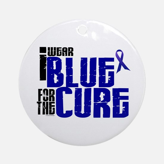 I Wear Blue For The Cure 6 Ornament (Round)
