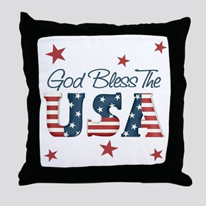 God Bless The U.S.A. Throw Pillow