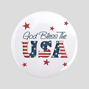 "God Bless The U.S.A. 3.5"" Button"