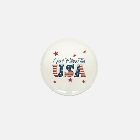 God Bless The U.S.A. Mini Button (10 pack)
