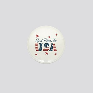 God Bless The U.S.A. Mini Button