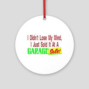 Garage Sale Ornament (Round)