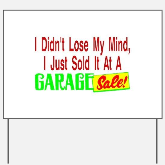 Garage Sale Yard Sign