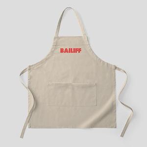Retro Bailiff (Red) BBQ Apron
