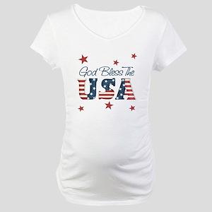God Bless The U.S.A. Maternity T-Shirt