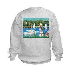 Sailboats /Min Schnauzer Sweatshirt