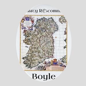 Boyle Co Roscommon Ireland Oval Ornament
