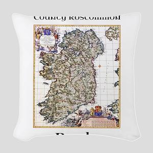 Boyle Co Roscommon Ireland Woven Throw Pillow