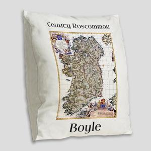 Boyle Co Roscommon Ireland Burlap Throw Pillow
