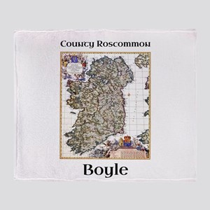 Boyle Co Roscommon Ireland Throw Blanket
