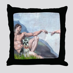 Creation / Schnauzer (#8) Throw Pillow