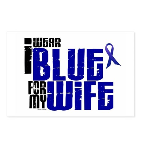 I Wear Blue For My Wife 6 Postcards (Package of 8)