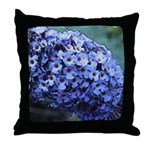 Butterfly Bush Floral Throw Pillow