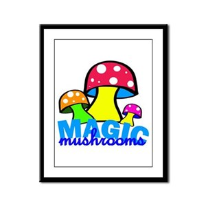 original mushrooms Framed Panel Print