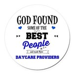 Best People Daycare Providers Round Car Magnet