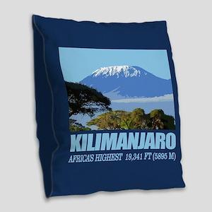 Mount Kilimanjaro Burlap Throw Pillow
