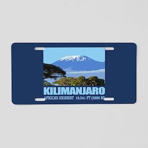 Mount Kilimanjaro Aluminum License Plate