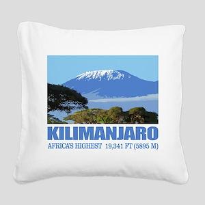 Mount Kilimanjaro Square Canvas Pillow