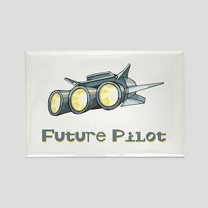 Future Pilot Rectangle Magnet
