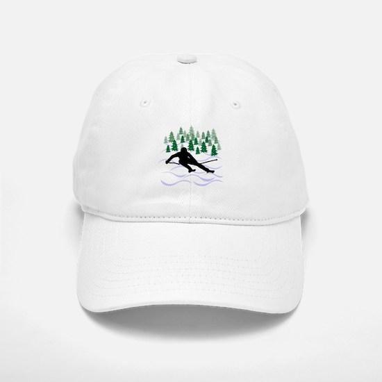 Ski Moguls Baseball Baseball Cap