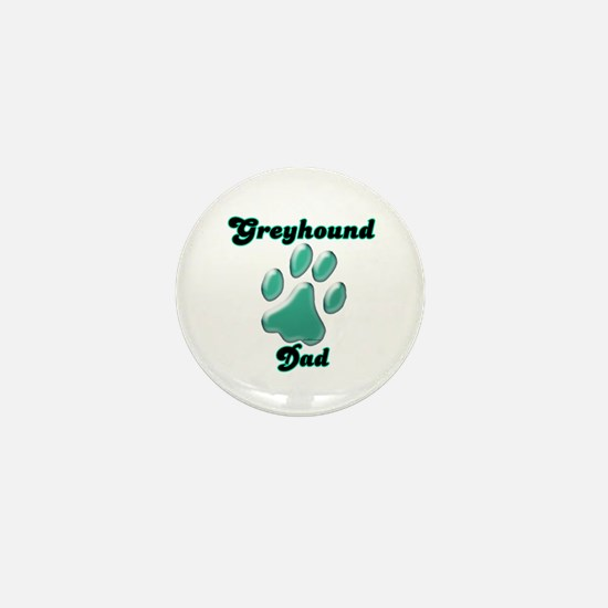 Dad Paw Teal Mini Button