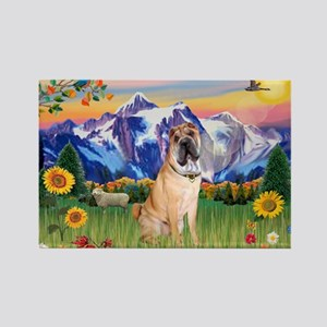 Mt Country / Shar Pei (#5) Rectangle Magnet