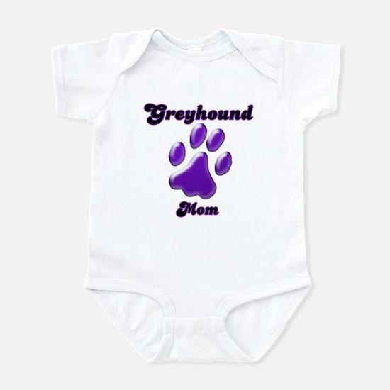 Mom Paw Purple Infant Bodysuit
