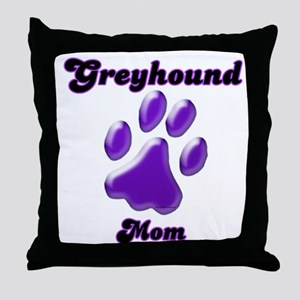 Mom Paw Purple Throw Pillow