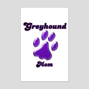 Mom Paw Purple Mini Poster Print