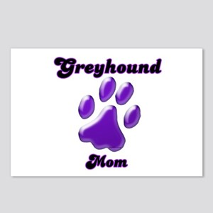 Mom Paw Purple Postcards (Package of 8)