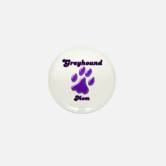Mom Paw Purple Mini Button