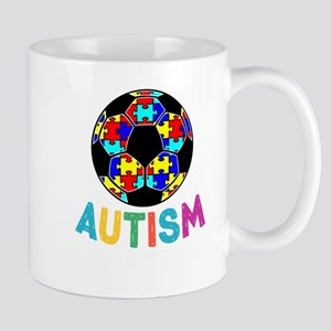 Autism Awareness Soccer Mugs