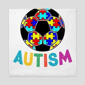 Autism Awareness Soccer Queen Duvet