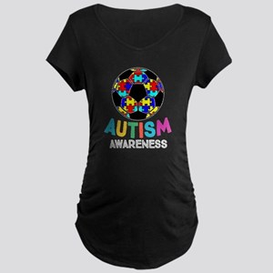 Autism Awareness Soccer Maternity T-Shirt