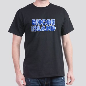Retro Rhode Island (Blue) Dark T-Shirt
