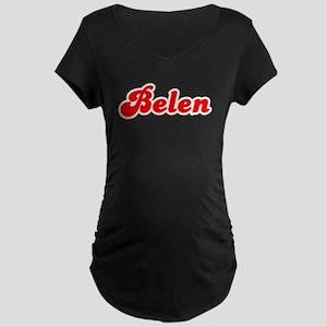 Retro Belen (Red) Maternity Dark T-Shirt