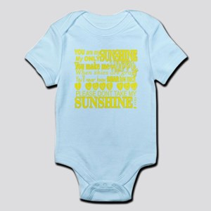 You Are My Sunshine Typography Body Suit