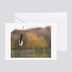 Gods Grace Cattail Greeting Cards