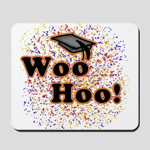 Woo Hoo Confetti Graduation Mousepad