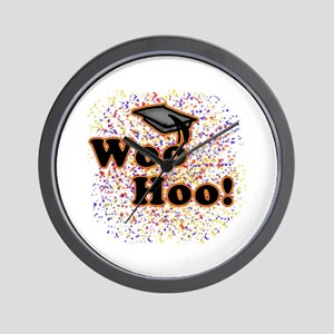 Woo Hoo Confetti Graduation Wall Clock