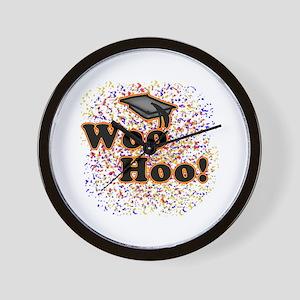 Woo Hoo Confetti Graduation Wall Clock