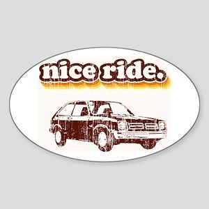 Nice Ride Oval Sticker