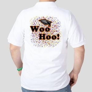 Woo Hoo Confetti Graduation Golf Shirt