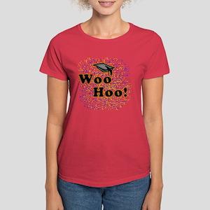 Woo Hoo Confetti Graduation Women's Dark T-Shirt