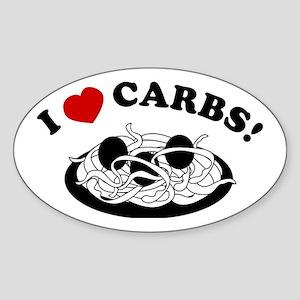 I Love Carbs! Oval Sticker