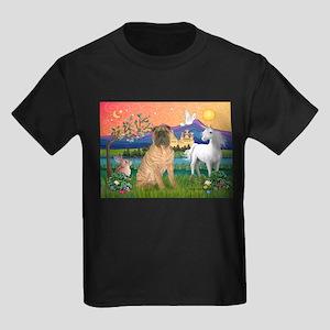 Fantasy Land /Shar Pei (#3) Kids Dark T-Shirt
