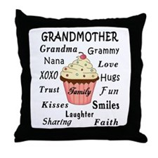 Grandma's Cupcakes For Grandmothers Throw Pillow